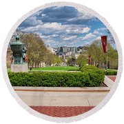 Capitol - Madison - Wisconsin From Bascom Hall Round Beach Towel