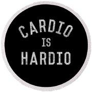 Cardio Is Hardio Round Beach Towel