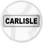 Carlisle City Nameplate Round Beach Towel