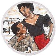 Carmen Jones - That's Love Round Beach Towel