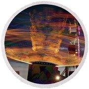 Carnival Rides Motion Blur Round Beach Towel