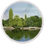 Carshalton Ponds Round Beach Towel
