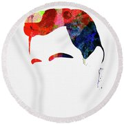 Cash Watercolor Round Beach Towel