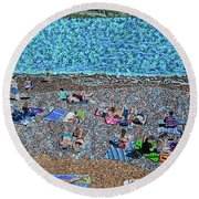 Cassis, France 2 Round Beach Towel