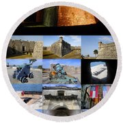 Castillo De San Marcos National Monument Round Beach Towel