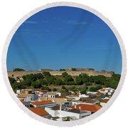 Castro Marim Village And Medieval Castle Round Beach Towel