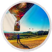 Catch Me If You Can. Round Beach Towel by Kendall McKernon