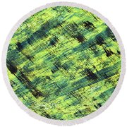 Cautious Round Beach Towel