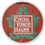 Central Vermont Railway Round Beach Towel