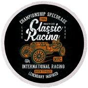 Championship Speed Race Classic Racing Round Beach Towel