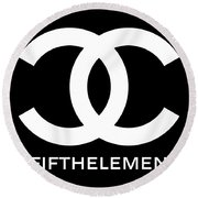 Chanel Fifth Element-2 Round Beach Towel