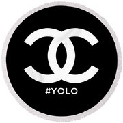 Chanel You Only Live Once Round Beach Towel