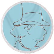 Charles Baudelaire By Edouard Manet Round Beach Towel