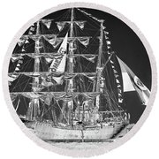 Charleston Ghost Ship Round Beach Towel