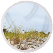 Chatham Lighthouse Round Beach Towel