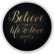 Cher - Believe Gold Foil Round Beach Towel