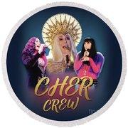 Cher Crew X3 Round Beach Towel
