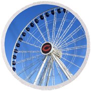 Chicago Centennial Ferris Wheel 2 Round Beach Towel