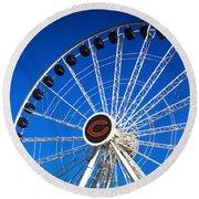 Chicago Centennial Ferris Wheel Round Beach Towel