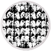 Chicken Farm 3 Round Beach Towel