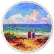 Children Of The Sea Round Beach Towel