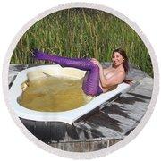 Chokoloskee Mermaid 0552 Round Beach Towel