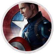 Chris Evans Captain America  Avengers Round Beach Towel