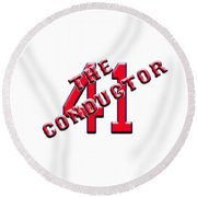 Chris The Conductor Sale Round Beach Towel
