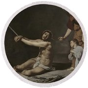 Christ After The Flagellation Contemplated By The Christian Soul Round Beach Towel