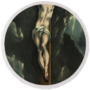 Christ On The Cross, 1610 Round Beach Towel