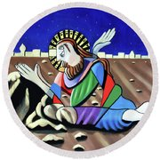 Christ Will Come Again Round Beach Towel by Anthony Falbo