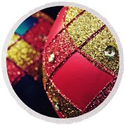 Christmas Abstract 18 Round Beach Towel