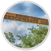 Chuckwagon Cookoff Round Beach Towel