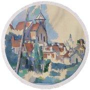 Church At Montigny Sur Loing, 1898  Round Beach Towel