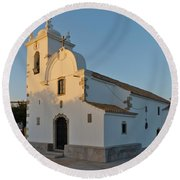 Church Of Querenca In Loule. Portugal Round Beach Towel