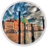 Church Of San Simeone Piccolo, Venice Round Beach Towel
