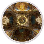 Church Of The Spilled Blood Round Beach Towel