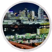 Cinci The Queen City Round Beach Towel