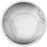 Circle In The Light-1 Round Beach Towel