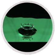 Circle Water Dance Green Round Beach Towel