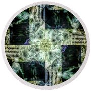 Circling Around Center Round Beach Towel
