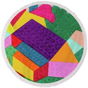 City 3 Round Beach Towel