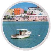 City Of Hamilton Bermuda Round Beach Towel