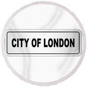 City Of London Nameplate Round Beach Towel