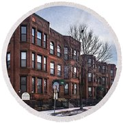 Cityview Cooperative, Minneapolis Round Beach Towel
