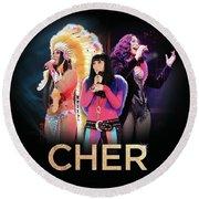 Classic Cher Trio Round Beach Towel
