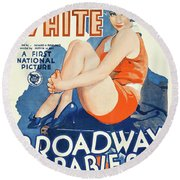 Classic Movie Poster - Broadway Babies Round Beach Towel