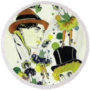 Classic Movie Poster - The Cocoanuts Round Beach Towel