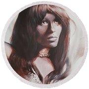 Claudia Lennear.brown Sugar.lady Grinning Soul Round Beach Towel