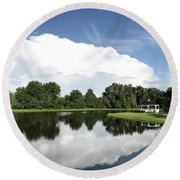 Clear Reflection Round Beach Towel